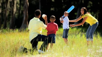 Family Playing Together - Baseball