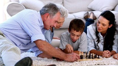 Family Playing Together - Chess